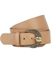 Maison Boinet Western Leather Corset Belt - Natural