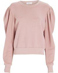 A.L.C. Rayna Puff Sleeve Sweatshirt - Pink