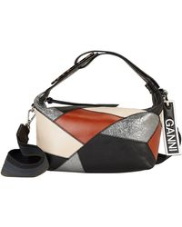 Ganni Patchwork Leather Small Satchel Bag - Multicolor