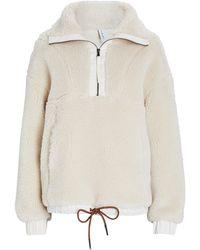 Varley Appleton Half-zip Fleece Sweatshirt - White