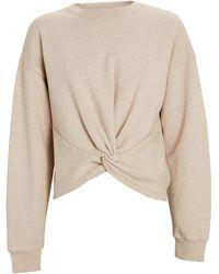 FRAME Twisted Cotton Crewneck Sweatshirt - Natural