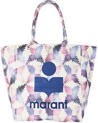Isabel Marant Yenky Logo Canvas Tote Bag - Multicolour