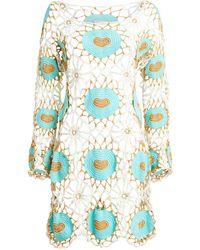 MY BEACHY SIDE Cinel Crocheted Mini Dress - Multicolor