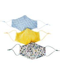 Lele Sadoughi Embroidered Face Mask 3-pack - Multicolor