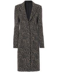 RTA - Jamson Coat Grey Leopard - Lyst