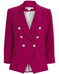 Veronica Beard Empire Dickey Blazer - Pink