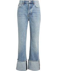 Proenza Schouler Logo Trim Stove Pipe Jeans - Blue