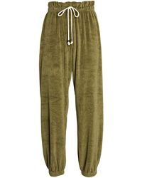 DONNI. Terry Paperbag sweatpants - Green