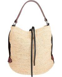 Isabel Marant Bayia Leather-trimmed Straw Bag - Natural