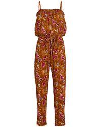 Xirena Sydnee Paisley Sleeveless Jumpsuit - Orange