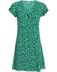 Rails - Helena Mini Dress Green/floral P - Lyst