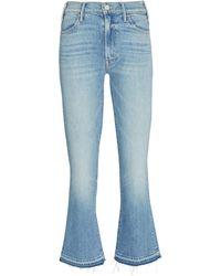 Mother The Hustler Ankle Fray Jeans - Blue