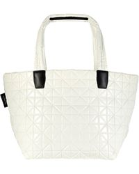 VeeCollective Vee Medium Quilted Tote Bag - White