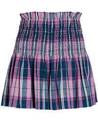 Étoile Isabel Marant Isabel Marant Étoile Bayowel Smocked Plaid Shorts - Blue