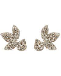 Adina Reyter Pavé Diamond Stud Earrings - Metallic