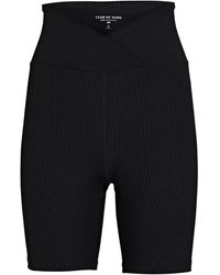 Year Of Ours V-waist Rib Knit Bike Shorts - Black