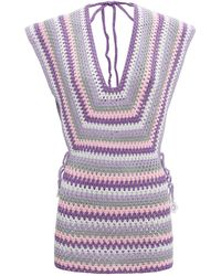 MY BEACHY SIDE Mimosa Crochet Mini Dress - Multicolor