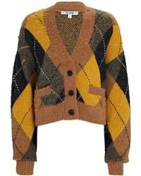 RE/DONE 90s Oversized Cropped Cardigan - Yellow