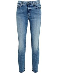 Mother The Looker Ankle Skinny Jeans - Blue