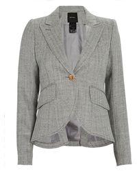 Smythe Herringbone Wool Blazer - Grey
