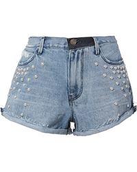 RTA - Pearl Denim Shorts - Lyst