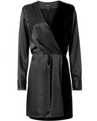 Rag & Bone - Victor Velvet Wrap Dress - Lyst