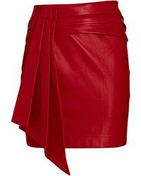 Saylor Coraline Vegan Leather Mini Skirt - Red