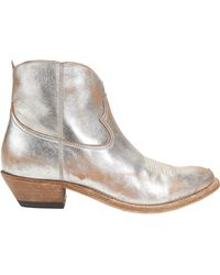 Golden Goose Deluxe Brand - Young Distressed Leather Ankle Boots - Lyst