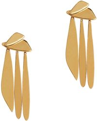 Lizzie Fortunato   Gold Sail Earrings   Lyst