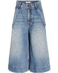 Zimmermann Vintage Stone Bermuda Shorts - Blue
