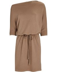 Enza Costa Slouch Terry Mini Dress - Natural