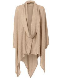 Nicholas K - Serius Champagne Wrap Sweater - Lyst