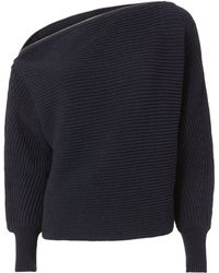 Intermix - Weylyn Zip-trimmed Sweater - Lyst