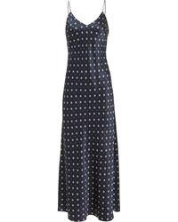 Anine Bing Rosemary Slip Dress Navy/white P - Blue