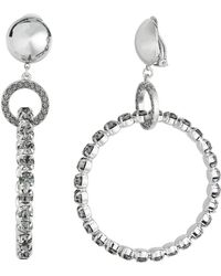 Alberta Ferretti - Crystal Hoop Earrings - Lyst