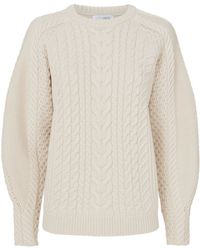 Intermix - Brinley Blouson Sleeve Cabled Sweater - Lyst
