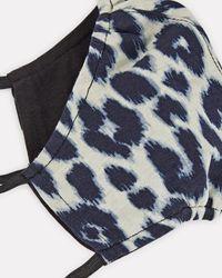 A.L.C. A.l.c. Leopard Print Cotton Face Mask - Blue
