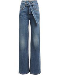 Veronica Beard Rosanna Wide-leg Jeans - Blue