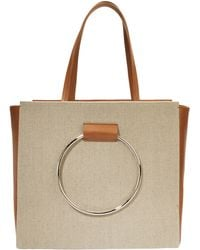 Little Liffner | Canvas And Leather Ring Handle Tote | Lyst