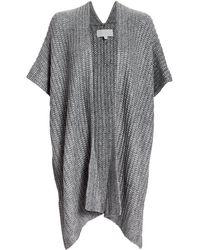 Michelle Mason Chunky Knit Wrap - Grey