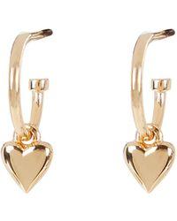 Meadowlark Camille Heart Hoop Earrings - Metallic