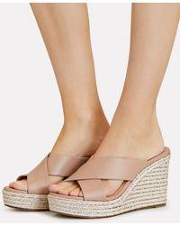 Jimmy Choo Dovina Platform Espadrille Wedge Sandals - Pink