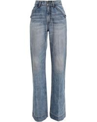 Zimmermann Vintage Stone Pocket Flare Jeans - Blue