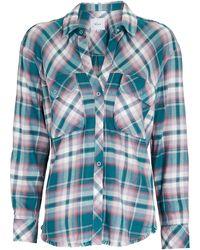 Rails Sawyer Plaid Flannel Button-down Shirt - Blue