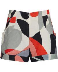 Cult Gaia Molly Printed Linen-blend Shorts - Multicolour