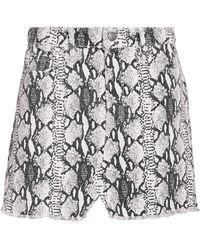 FRAME - Le Mini Python Denim Skirt - Lyst