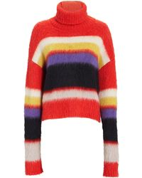 Diane von Furstenberg Chunky Turtleneck Striped Sweater - Multicolour