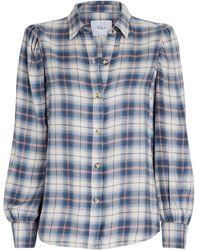 Rails Angelica Plaid Button-down Shirt - Blue