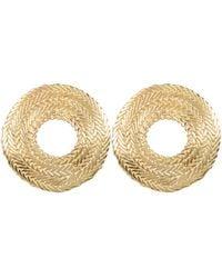 Stvdio Colette Textured Hoops - Metallic