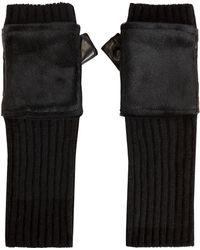 Carolina Amato - Haircalf Knit Gloves - Lyst
